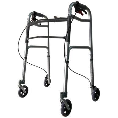 deambulatore pieghevole con ruote e freno moretti - foto-1399