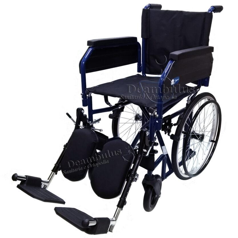 sedia a rotelle pieghevole per disabili con pedane elevabili moretti - foto-5071