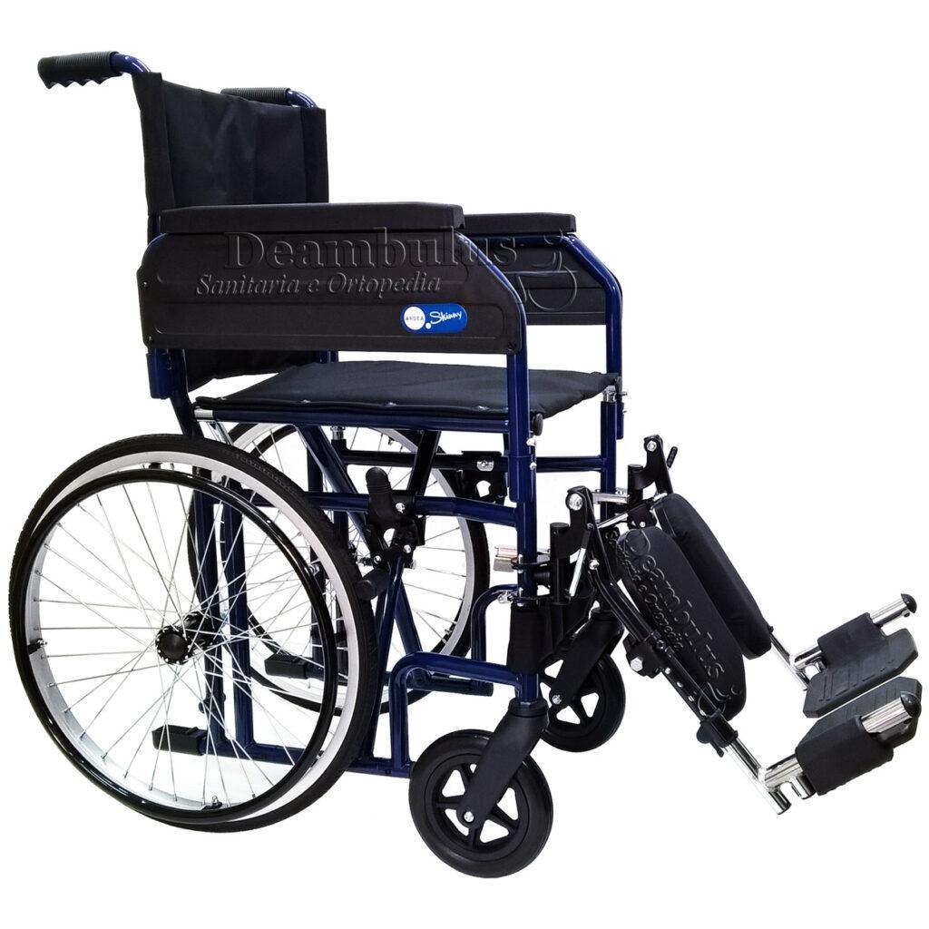 Sedia a rotelle pieghevole disabili pedane elevabili ...