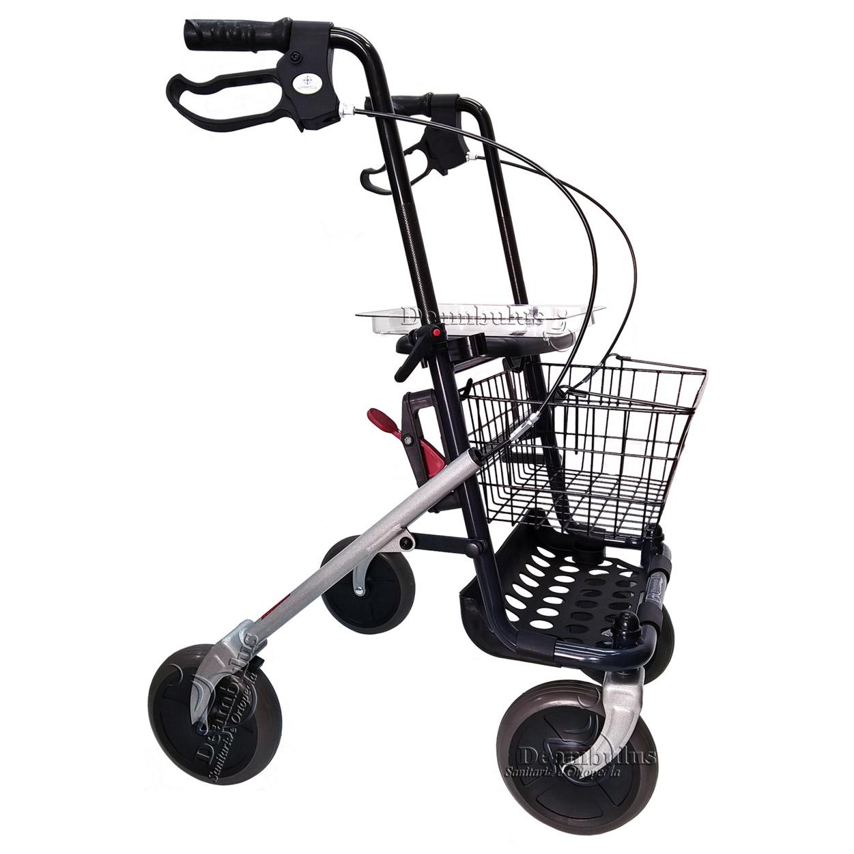 Girello deambulatore 4 ruote con seduta per anziani ...