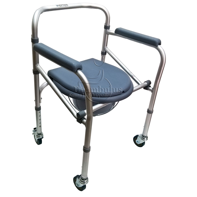 Sedia Comoda WC pieghevole ruote anziani disabili Moretti ...