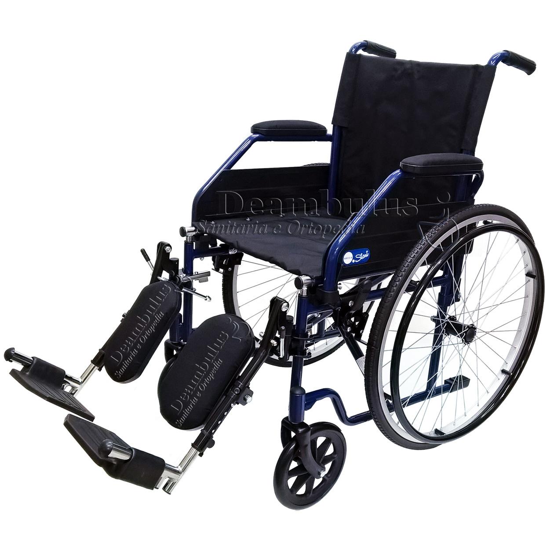 Sedia a rotelle pieghevole da 46 con pedane elevabili ...