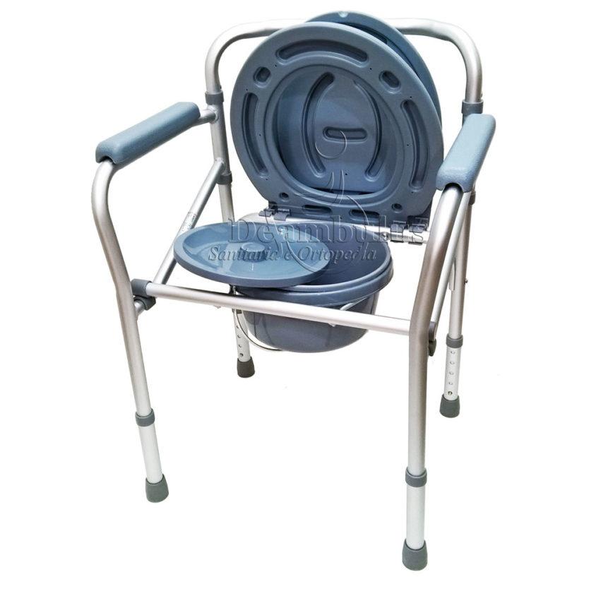 Sedia WC Comoda per anziani pieghevole puntali Moretti ...