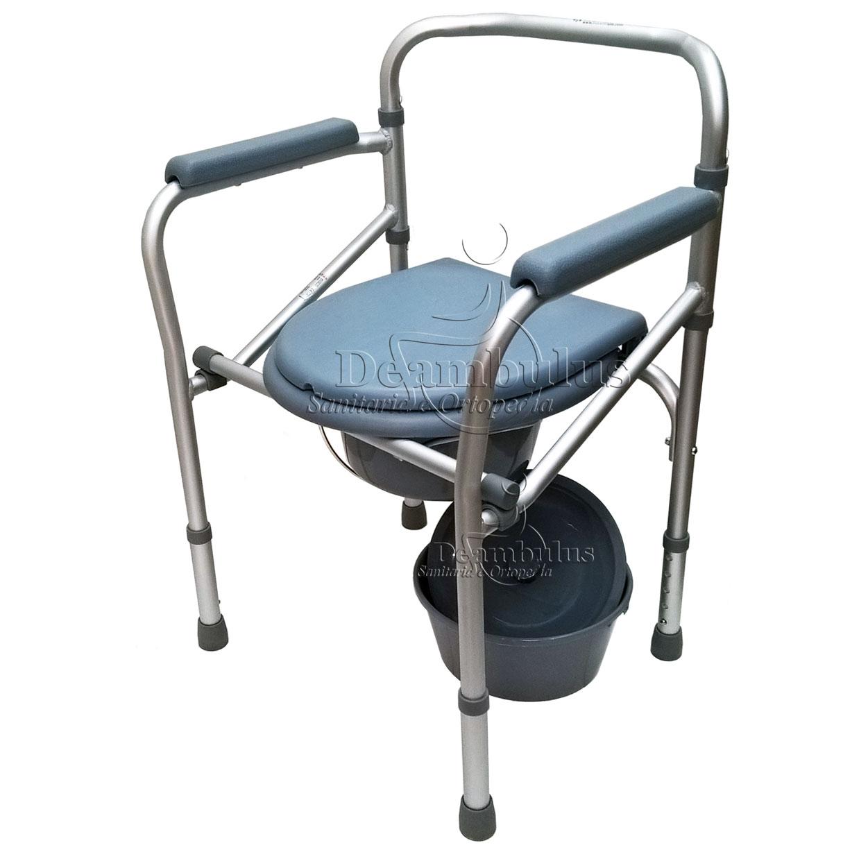 Sedia comoda WC pieghevole anziani disabili Moretti ...