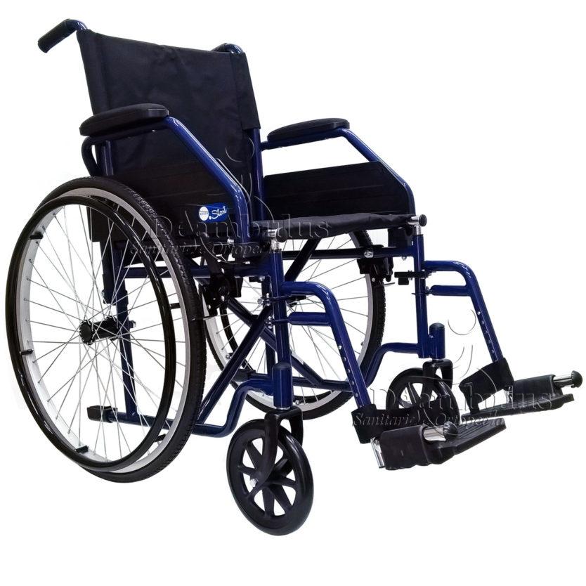 sedia a rotelle pieghevole seduta 45 anziani moretti - foto-5791
