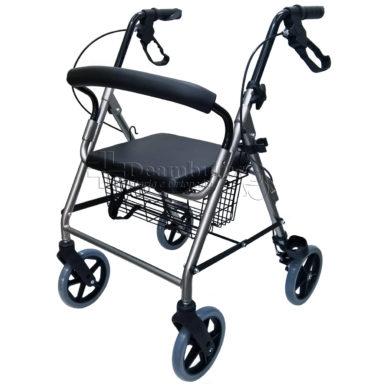 deambulatore 4 ruote per anziani rollator demarta - foto-8000