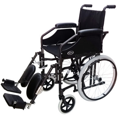 sedia a rotelle stretta 51 seduta 41 pedane elevabili demarta - foto-8200