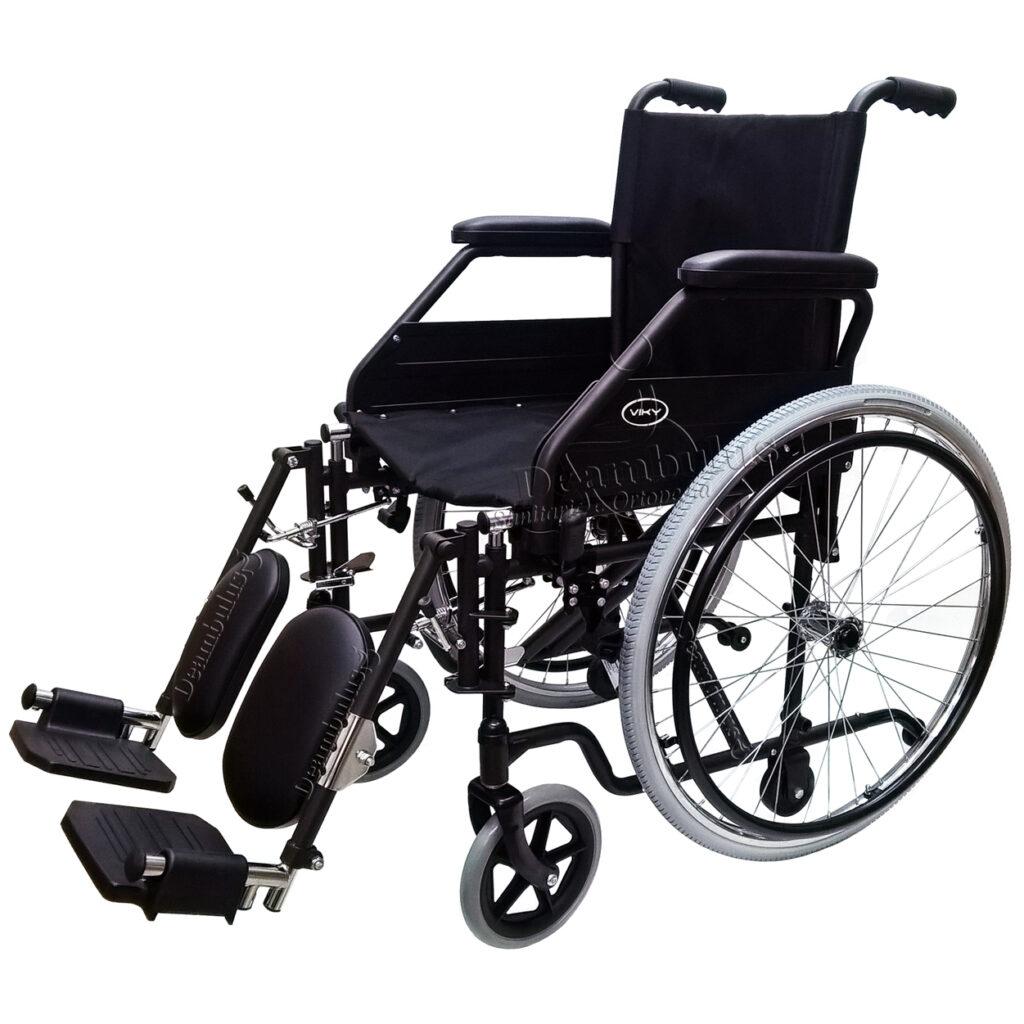 Sedia a rotelle disabili con alzagambe seduta 46 Demarta ...