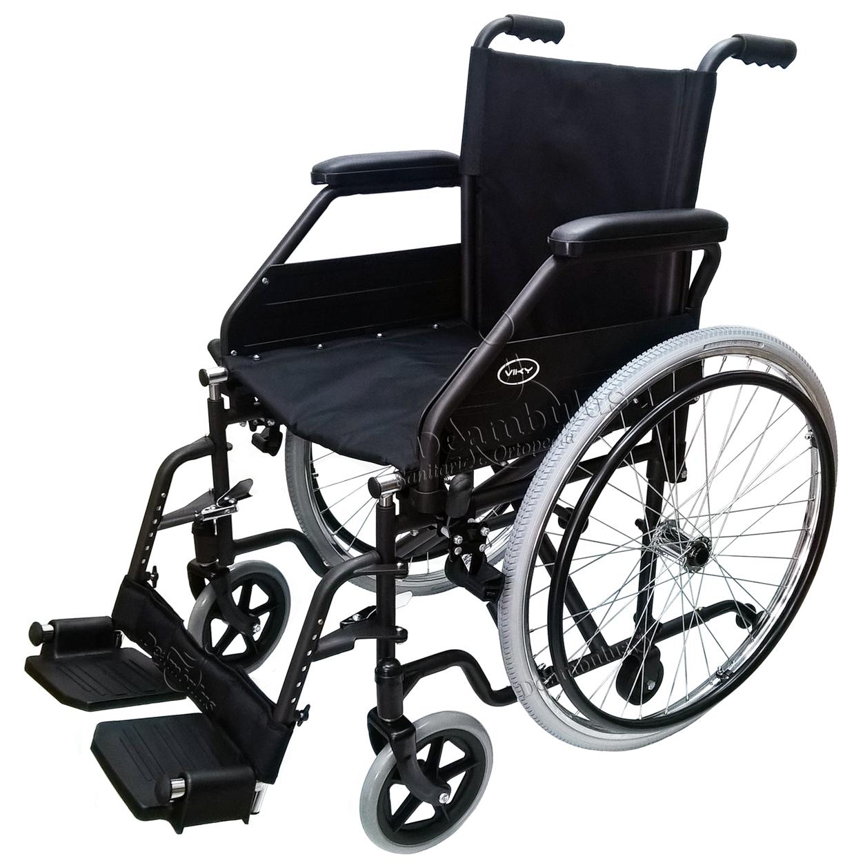 Sedia a rotelle disabili doppia crociera seduta 46 Demarta ...