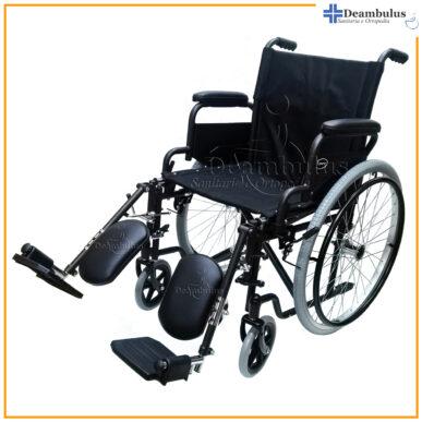 sedia a rotelle pieghevole con alzagambe per disabili - foto-8421