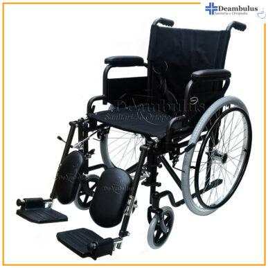 sedia a rotelle pieghevole con alzagambe per disabili 48 - foto-8440