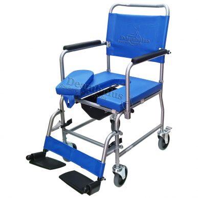 sedia wc comoda a rotelle per anziani carrozzina rialzo water - foto-1004